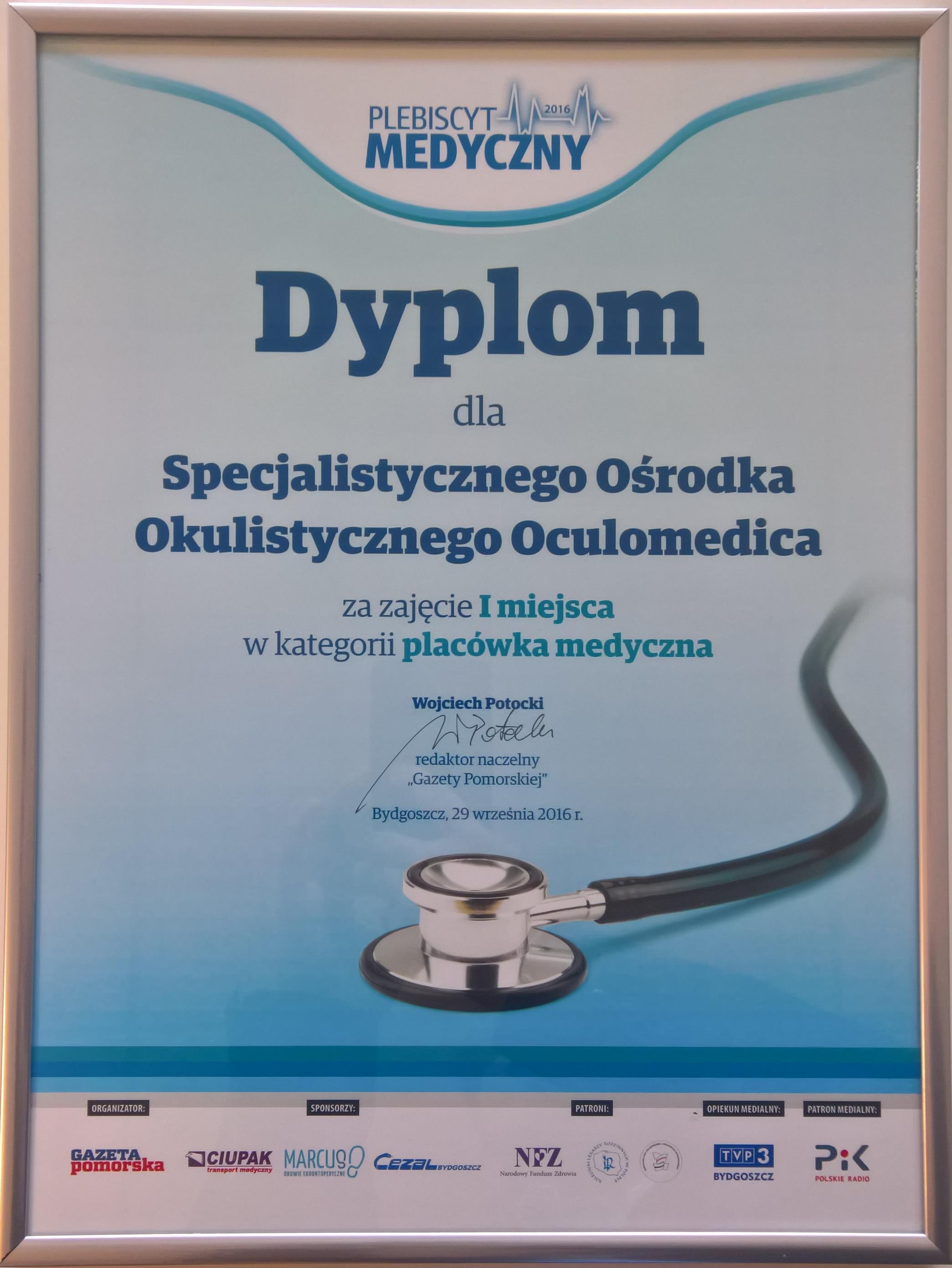 Oculomedica - Pierwsze miejsce
